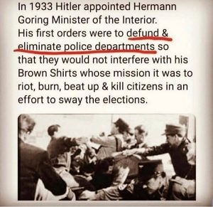 History repeating itself. Defund the police?